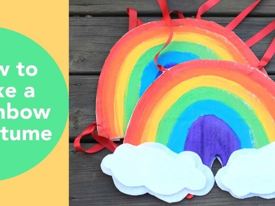 How to make a Rainbow Costume, A no sew tutorial by Smitha Katti