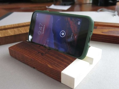 How To Make A Simple And Sleek Wooden Phone Stand - DIY Home Tutorial - Guidecentral