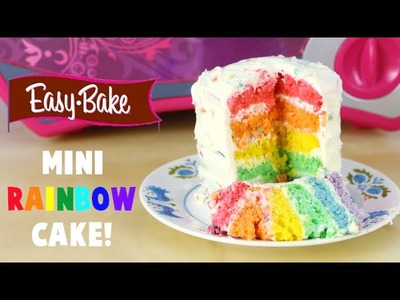 How to Make an Easy Bake Oven Mini Rainbow Cake and It's My Birthday!