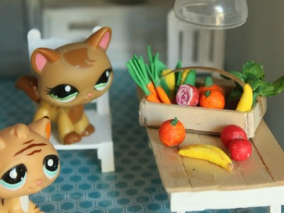 How to make LPS food LPS DIY | dollhouse miniatures diy