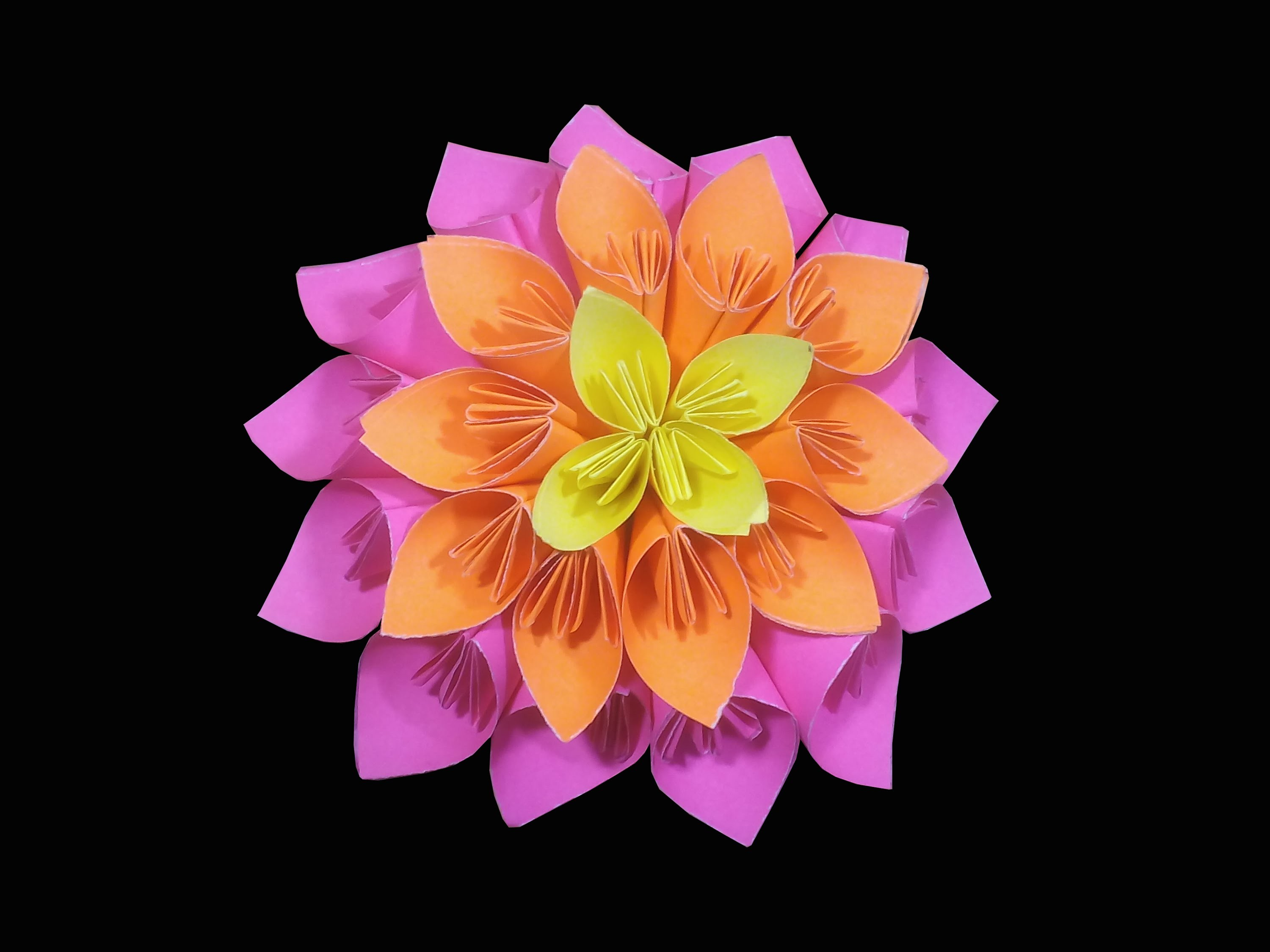 How to make Multi layered kusudama flower ( very easy ) : DIY Crafts
