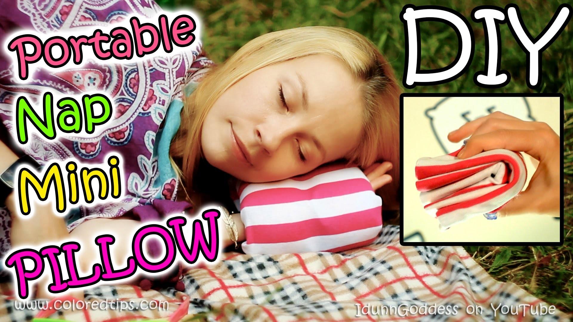 How To Make Portable Nap Mini Pillow - DIY Compact Travel Napping Pillow