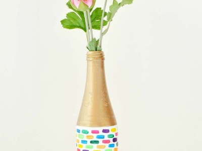 How To Recycle A Beautiful Vase Using Nail Polish - DIY Crafts Tutorial - Guidecentral