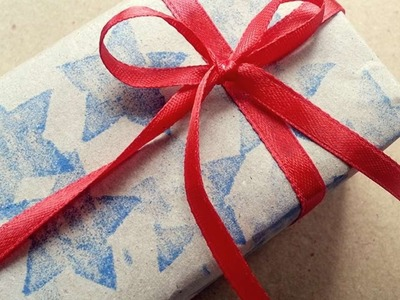 How To Tie Simple Ribbon Bow-Knot For Gift Box - DIY Crafts Tutorial - Guidecentral