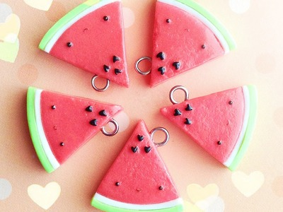 Kawaii Watermelon │ Polymer Clay Tutorial