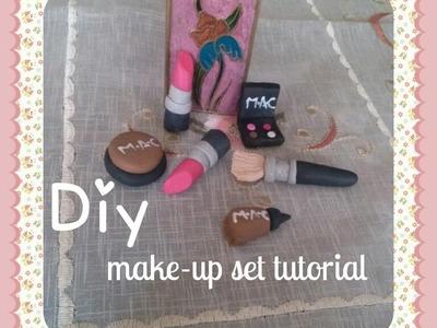 M.A.C Make-up set Polymer clay tutorial.Easy.DIY