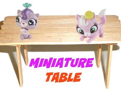 Miniature Doll Table Tutorial - Dollhouse DIY