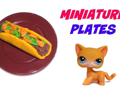 Miniature Dollhouse Plates - DIY LPS Accessories & Doll Crafts