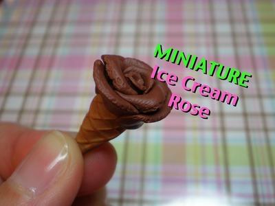 Miniature Ice Cream Rose Polymer Clay Tutorial
