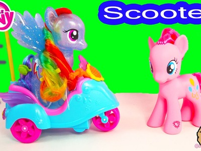 MLP Pinkie Pie RC Sound Remote Control Scooter My Little Pony + Rainbow Dash Ride