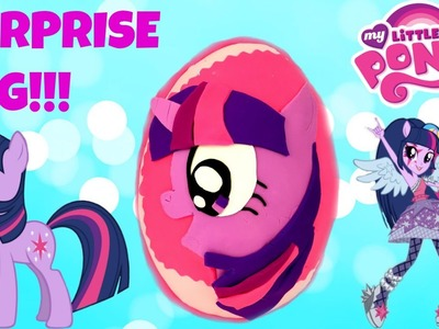 My Little Pony Play Doh Twilight Sparkle Egg Rainbow Rocks Equestria Girls & Blind Bags!