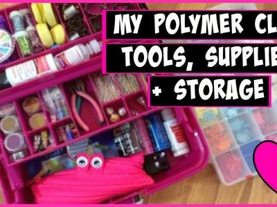 My Polymer Clay Tools, Supplies + Storage 2015    CraftieAngie