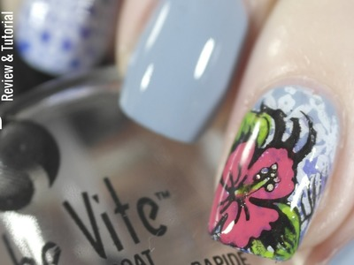 Nail Art: Bundle Monster Polynesia Collection Stamping Plate Review & DIY Decal Tutorial