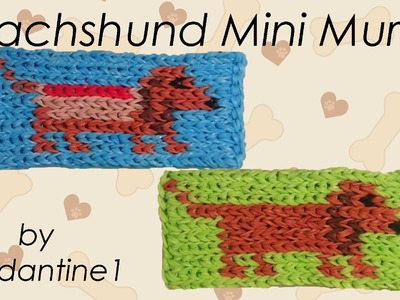 New Dachshund Weiner Hot Dog Mini Mural - Rainbow Loom - Rubber Band - Easy - Halloween