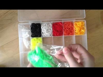Organizing my rainbow loom bands