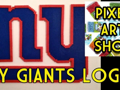 Perler Bead NY Giants Logo - Pixel Art Show