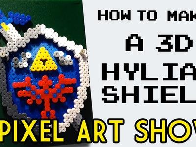 Perler Beads: How to Make a 3D Hylian Shield - Pixel Art Show