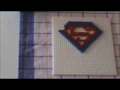 Perler Beads Tutorial Superman Logo Bügelperlen HAMA crafting