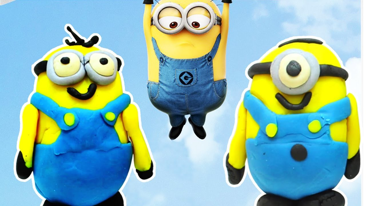 Play Doh Minions Stuart & Tim | Simple and Easy DIY Toys for Kids by HooplaKidz How To