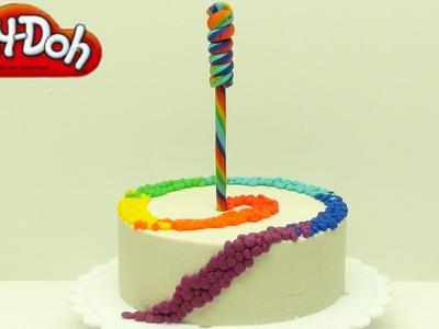 Playdoh Rainbow Swirl Cake. How to Make a Rainbow Swirl Cake.