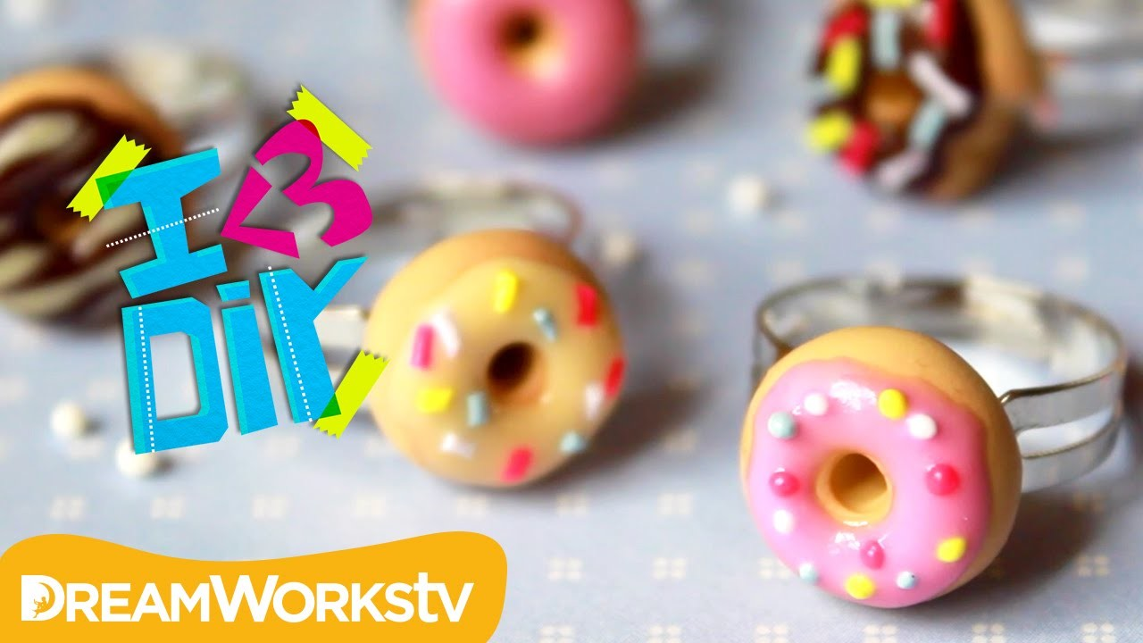 Polymer Clay Donut Rings with Puddingfishcakes | I ♥ DIY