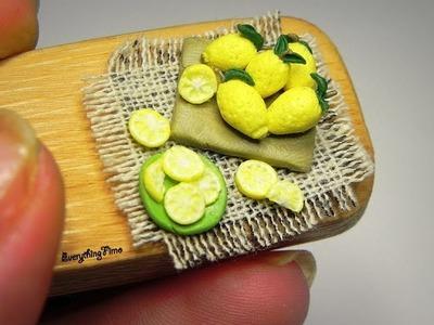Polymer clay lemon tutorial