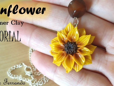 Polymer Clay Sunflower Pendant Tutorial