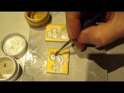 Polymer Clay Tiles; Xmas Project, Part 1