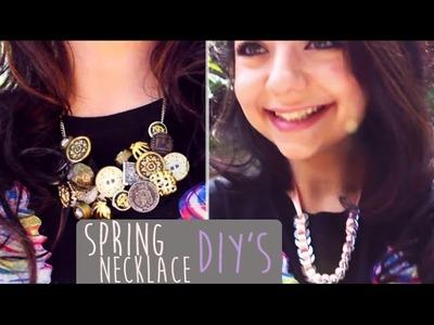 Quick Springtime Necklaces | DIY