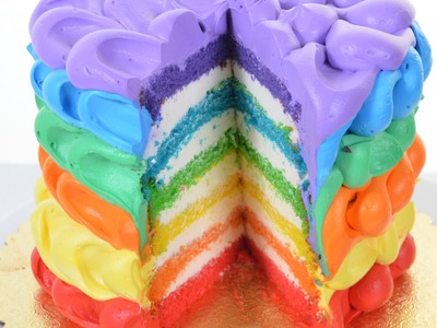 Rainbow birthday Cake Making Tutorial