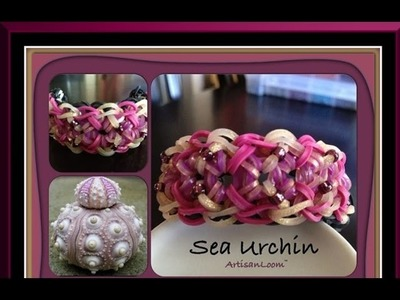 Rainbow Loom Band Sea Urchin Bracelet Tutorial.How To