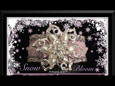Rainbow Loom Band Snow Bloom Bracelet Tutorial.How To
