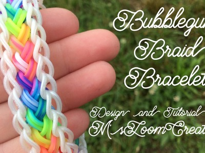 Rainbow Loom Bubblegum Braid Bracelet Tutorial | How To | M'sLoomCreations