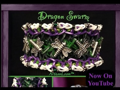 Rainbow Loom Dragon Swarm Tutorial.How To