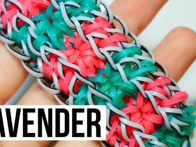 Rainbow Loom Lavender Bracelet | One Loom Tutorial
