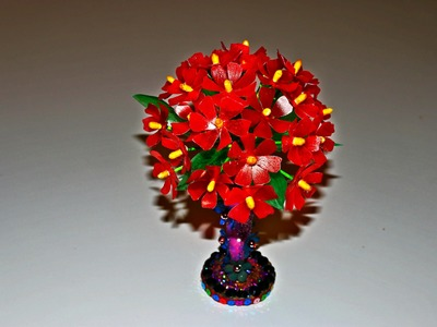 Recycled Plastic Craft: DIY Floral Centerpiece with Plastic Carton