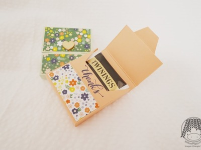 Stampin' Up! UK - April Thanks D.I.Y Kit - Tea Bags holder(close like cereal box) Tutorial 2015_#01