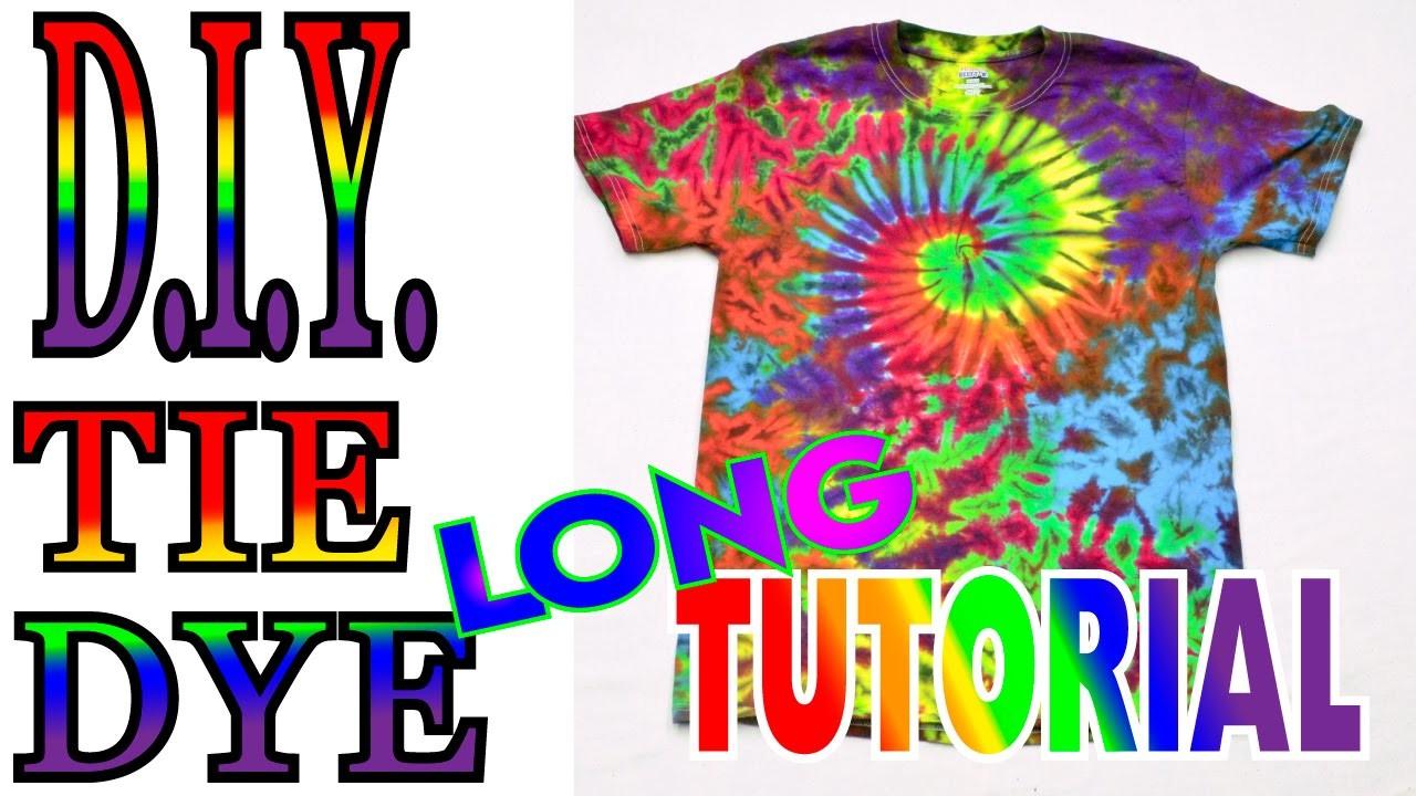 Tie Dye a Spiral Crinkle Rainbow Shirt [Long Tutorial]