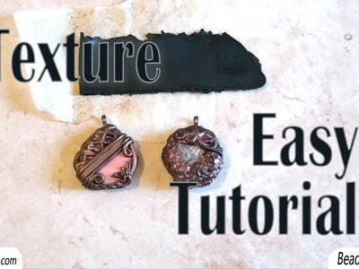 BeadsFriends: polymer clay pendants and an easy tutorial to create a texture