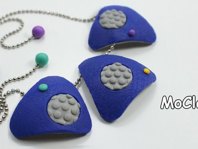 Bubble texture necklace - Polymer clay tutorial