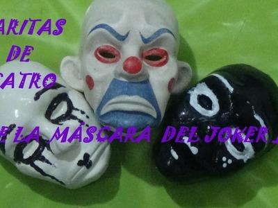 Caritas de Teatro con máscara del Joker [Polymer Clay].Faces of theater [Joker-Mask]