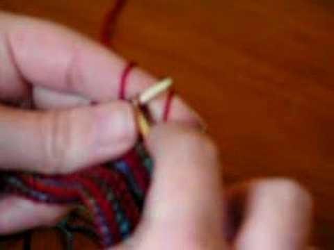 Continental knitting - my way