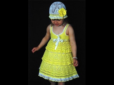 Crochet dress| How to crochet an easy shell stitch baby. girl's dress for beginners 8