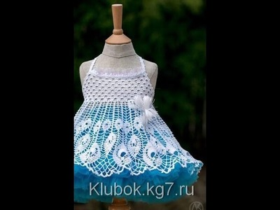 Crochet dress| How to crochet an easy shell stitch baby. girl's dress for beginners 55