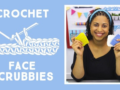 Crochet Face Scrubbies Make Up Remover: Easy Craft Project with Vanessa of Crafty Gemini Creates