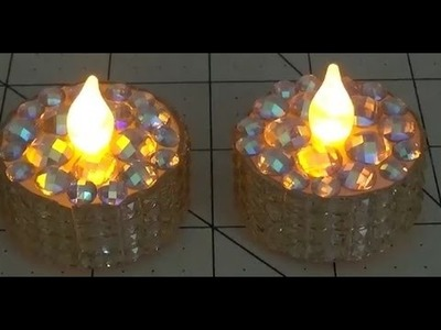 DIY~Gorgeous Faux Tea Light For Token Christmas Gift or Party Favor!