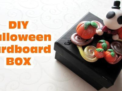 DIY Halloween Cardboard Box. Polymer Clay Ornament