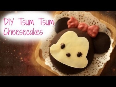 DIY Mickey.Minnie Tsum Tsum Cheesecakes