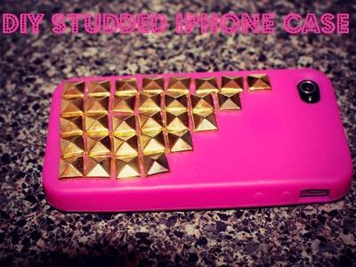 ♡DIY Studded Iphone Case