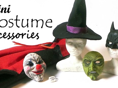 Doll & Miniature Halloween Costume Accessories - Polymer Clay.Fabric